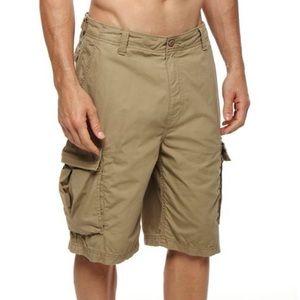 Nautica beige khaki cargo shorts